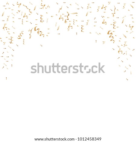 Confetti celebration isolated on white background. Many falling tiny pieces. Decorative tinsel elements for web site, wallpaper,poster and greeting card.Creative art,modern concept.Vector illustration #1012458349