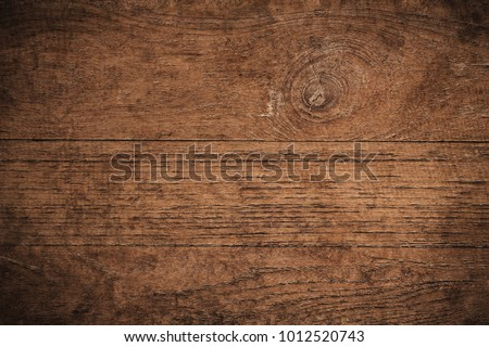 Old grunge dark textured wooden background,The surface of the old brown wood texture,top view brown teak wood paneling #1012520743