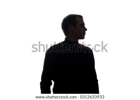 Portrait of a young man, side view - silhouette #1012633933