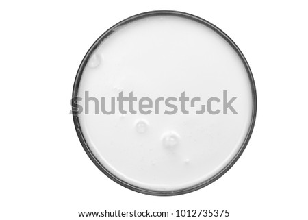 top view of glass milk Glass of Milk From Above #1012735375