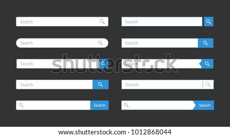 Search bar templates design set, vector illustration