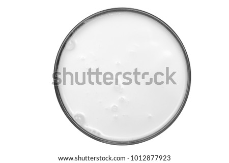 top view of glass milk Glass of Milk From Above #1012877923