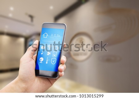 smart home system on smart phone #1013015299