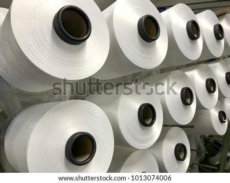 Raw White Polyester FDY Yarn spool, Polyester Filament Yarn spool.PET fiber Yarn,spun polyester sewing thread #1013074006