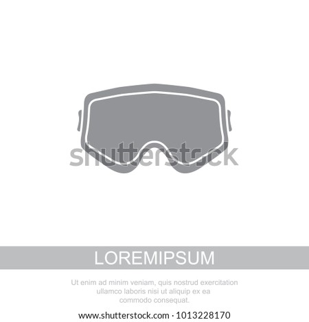 Protective glasses. Glasses for airsoft icon