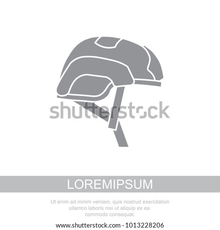 Helmet for airsoft. Helmet icon