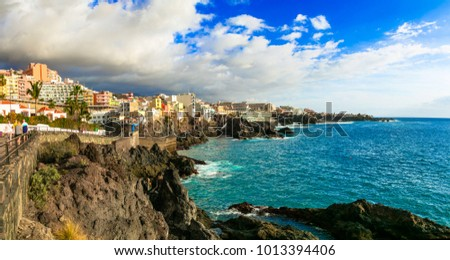 Tenerife holidays - picturesque town Puerto di Santiago. Canary islands #1013394406