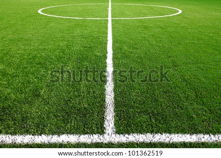 soccer field grass Royalty-Free Stock Photo #101362519