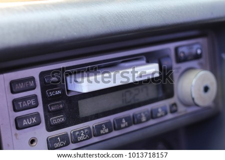 Outdated car cassette #1013718157