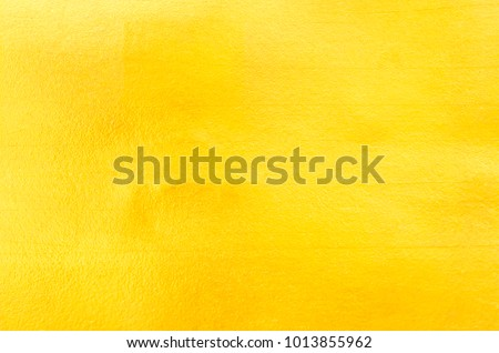 Shiny yellow leaf gold foil texture background #1013855962