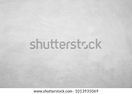 Paint (50%), texture (50%). Texture of the painted surface of a smooth rough wall. Relief plane. Balanced gray color. Light reflex. White Design Background. Artistic plaster. Rastered image. #1013935069