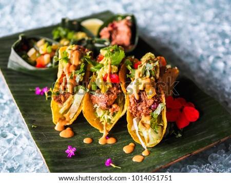 healthy vegan jackfruit tacos #1014051751