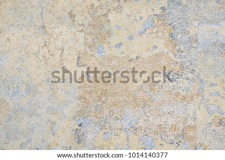 the patterns on vintage floor Royalty-Free Stock Photo #1014140377