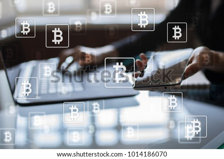 Bitcoin cryptocurrency. Financial technology. Internet money. Business concept. #1014186070