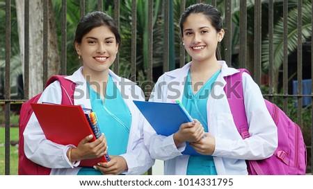 Hispanic Female Nursing Student #1014331795