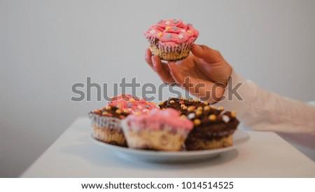 Sweet Homemade cupcakes #1014514525