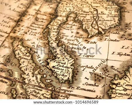 Old map of Southeast Asia #1014696589