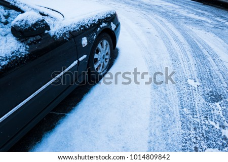 Cars covered with fresh snow #1014809842