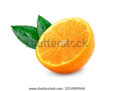 Orange fruit isolated on white background #1014889666