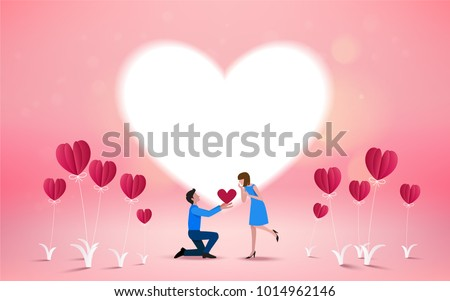 Will you marry me invitation card Vector/Illustrator. Love concept. Happy valentines day.
