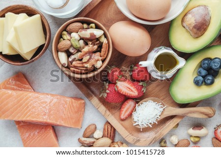 Keto, ketogenic diet, low carb, high good fat ,  healthy food, world food day #1015415728