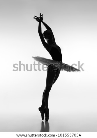 Ballerina in the backlight #1015537054