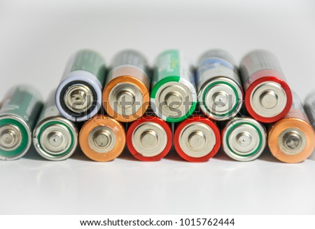 Stack of batteries powering the future of renewable energy and energy density of electrical storage technology #1015762444