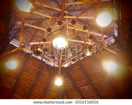 modern lamp on the ceiling #1016156056
