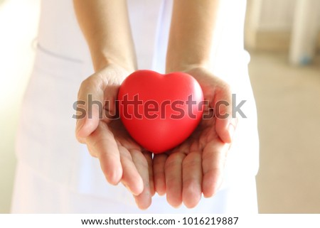 The nurse takes care of you with your heart. #1016219887