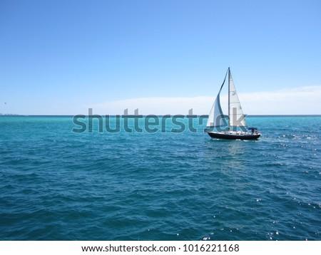 Sailboat at Destin Royalty-Free Stock Photo #1016221168