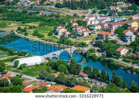Magnificent view of Trebinje from the height of the ancient temple of Hercegovachka-Gracanica #1016228971