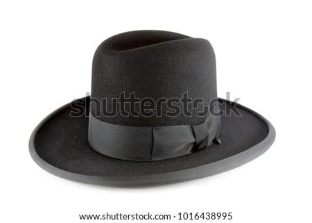 Jewish litvak hat isolated on white background #1016438995