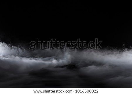 Center low fog rolling with billows Royalty-Free Stock Photo #1016508022