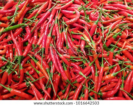 Red chilli sold on the market. #1016642503