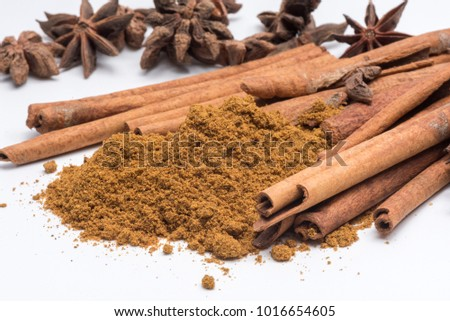 spices on white background #1016654605