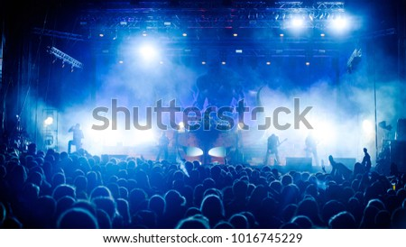 Viking metal band Amon Amarth performing at Metaldays Festival on July 25th, 2017 in Tolmin, Slovenia #1016745229
