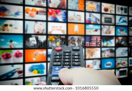 Multimedia video wall television broadcast. multimedia wall television video broadcast advertising background broadcasting concept #1016805550