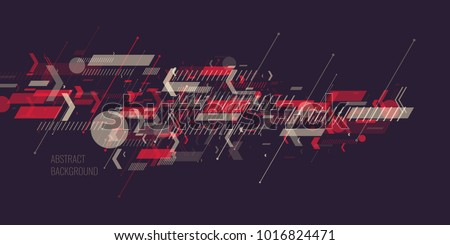 Trendy abstract background. Composition of geometric shapes. Vector illustration
