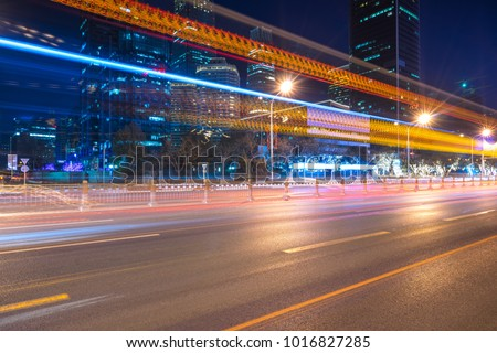 speeding highway slow shutter