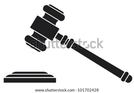 gavel - hammer of judge or auctioneer