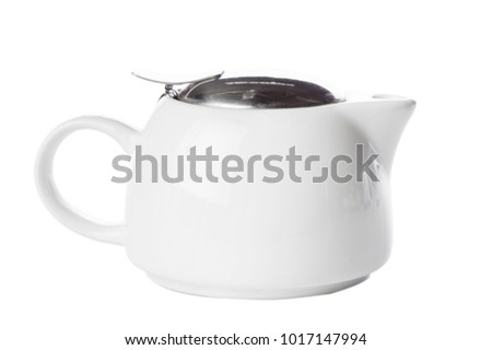 teapot isolated on white #1017147994