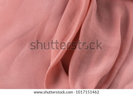 Soft pink fabric shaped as female genital organs, vagina #1017151462
