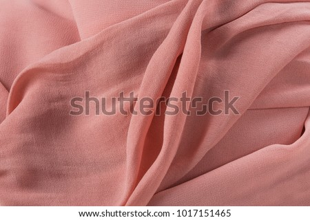 Soft pink fabric shaped as female genital organs, vagina #1017151465