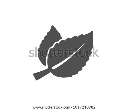 Mint leaves simple icon. Herbal leaf sign. Tea with Mentha symbol. Quality design elements. Classic style. Vector #1017210982