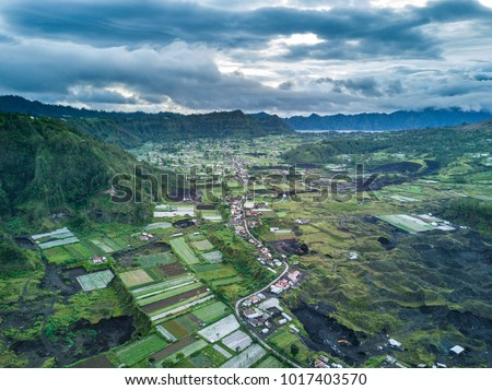 Mountain hill with aerial view. #1017403570