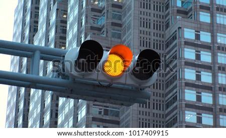 Traffic light at Shinjuku, Tokyo, Japan.