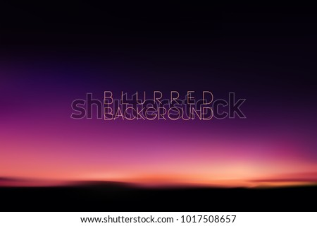 horizontal wide blurred mountain night sky background - night sky colors.