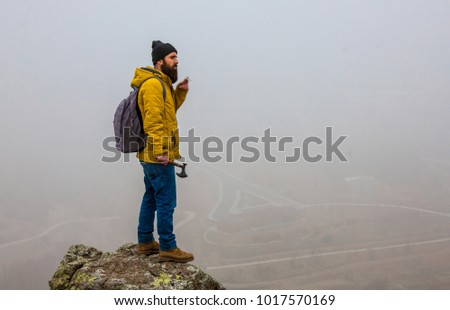 living conditions of man in mountain #1017570169