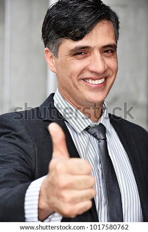 Successful Intelligent Business Man Wearing Business Suit #1017580762