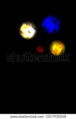 Magic colors of Christmas atmosphere shining into the space #1017930268